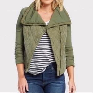 Anthropology Marrakech Green Quilted Phoebe Jacket